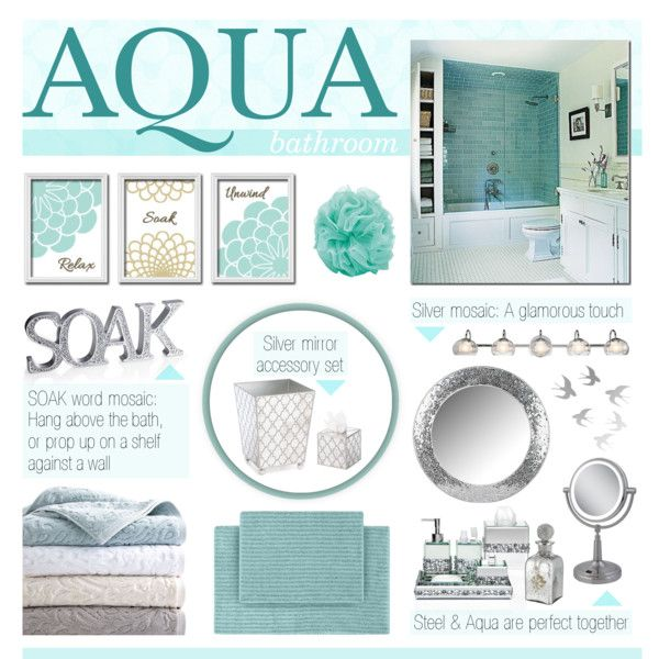 Aqua bathroom bathroom decor ideas pinterest for Aqua bathroom ideas