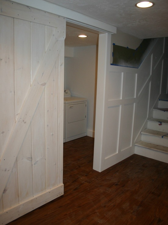 Pin by teresa drum on diy projects pinterest for Laundry room sliding doors