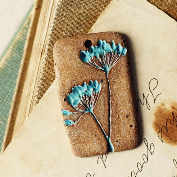 Dill handmade ceramic pendant by kylieparry on Etsy