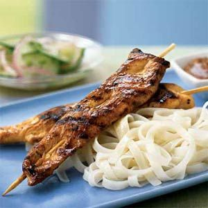 Chicken Satay with peanut sauce- One of my favorite meals- also great ...