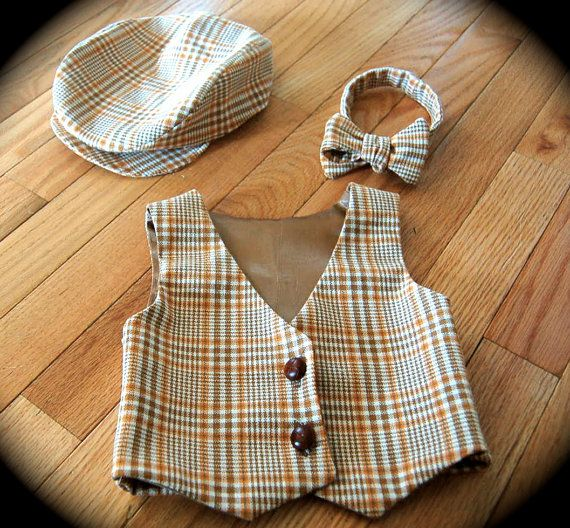 Vest, bow tie & hat, by padiddledesigns.