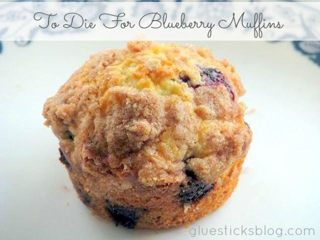 To Die For Blueberry Muffins {from scratch w/ crumb topping}