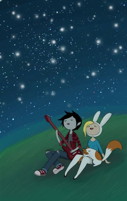 Adventure Time Fionna and Marshall Lee