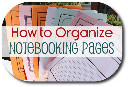 How to Organize Notebooking Pages @jimmiescollage