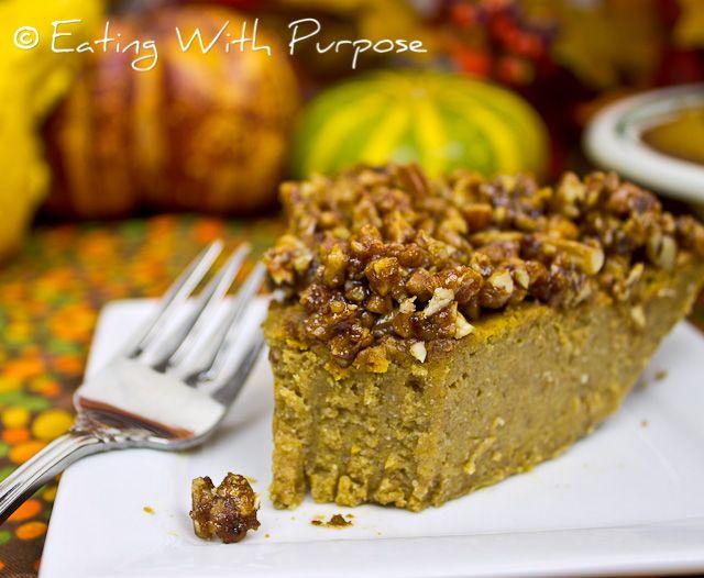 ... free, gluten-free pumpkin pie with a coconut sugar caramelized pecan