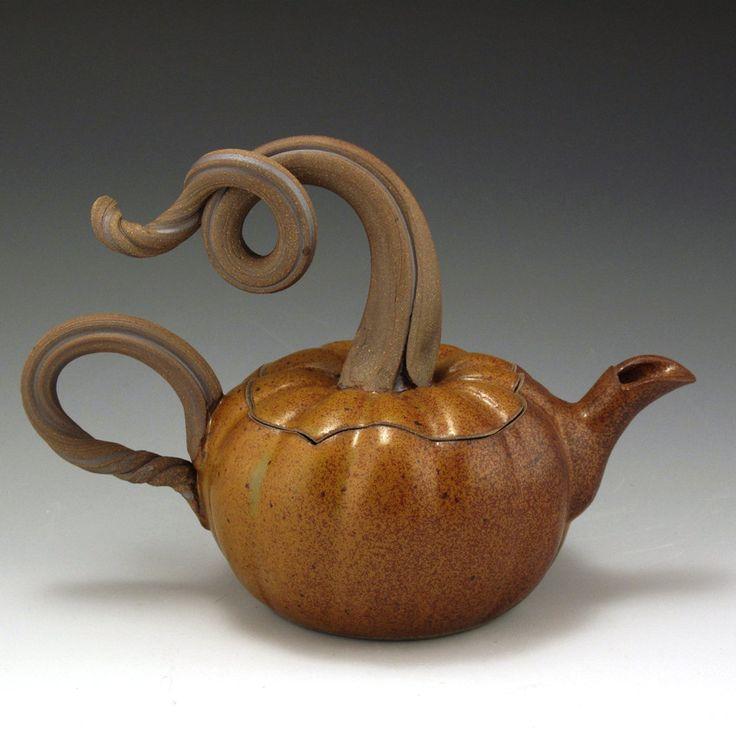 Pumpkin Teapot Very Unusual Ceramics Pinterest