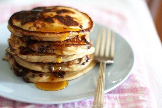 Pancake Day (Shrove Tuesday) – peanut butter chocolate chip pancakes ...