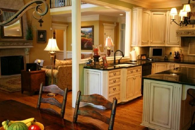 Distressed White Cabinets Kitchen Plans Pinterest
