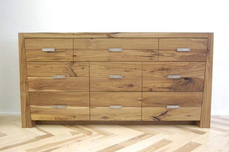 Rustic Walnut Long Dresser