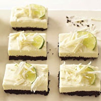 White Chocolate and Lime Cheesecake Bars by Bon Appétit