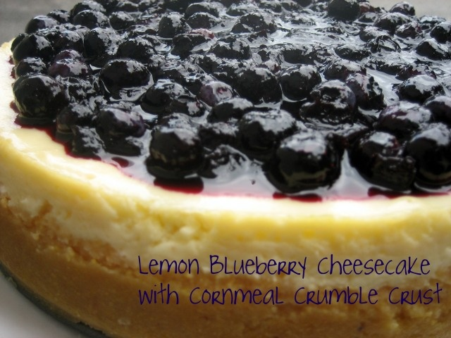 British Cheesecake With Warm Blueberries Recipe — Dishmaps
