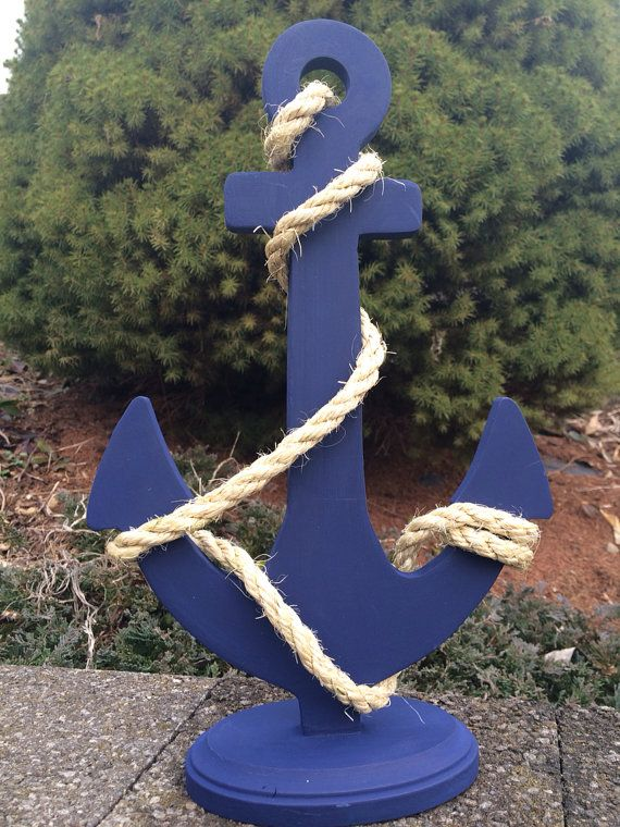 Custom anchor wedding centerpiece nautical wedding decor for Anchor decoration