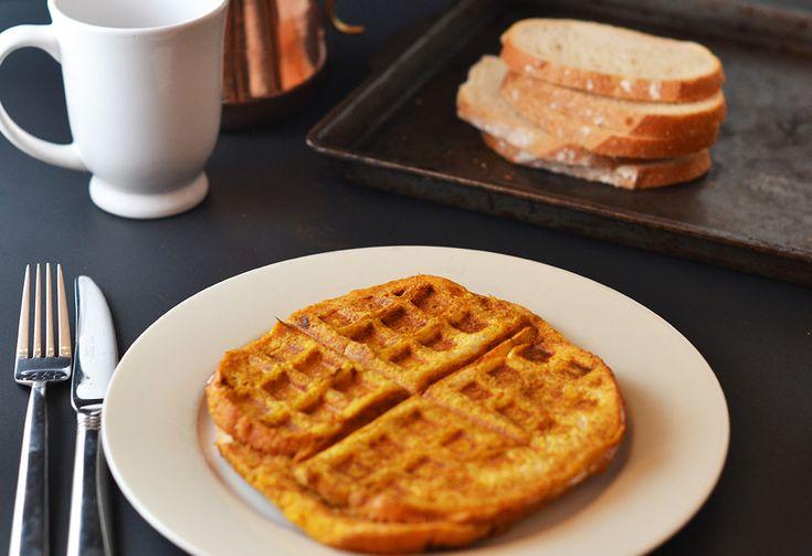 Pumpkin French Toast waffles... I need a waffle maker asap