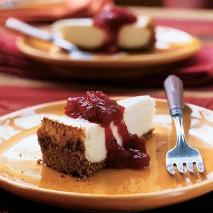Cheesecake with Cranberry-Maple Topping by Cooking Light