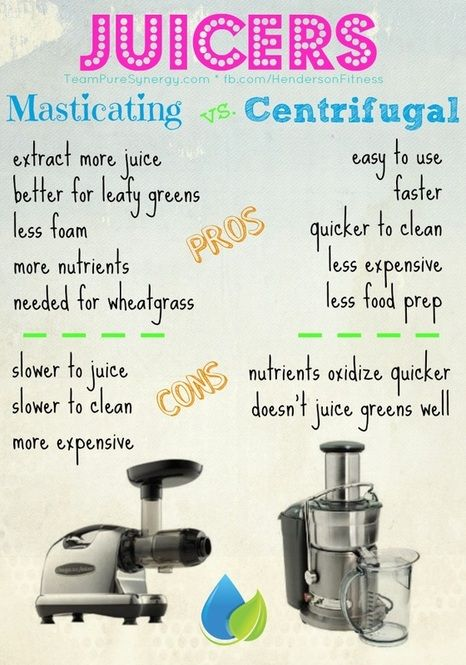 Which Is Better Masticating Juicer Or Centrifugal : Masticating vs. Centrifugal Juicers Tips Pinterest