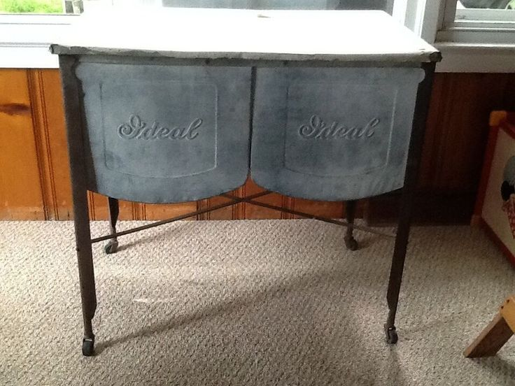Wash Tub On Stand : ... VINTAGE *LPU* IDEAL DOUBLE WASH GALVANIZED METAL TUB ON STAND #Ideal