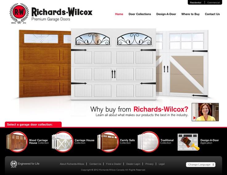 Richards wilcox garage doors in canada http www rwdoors com garage