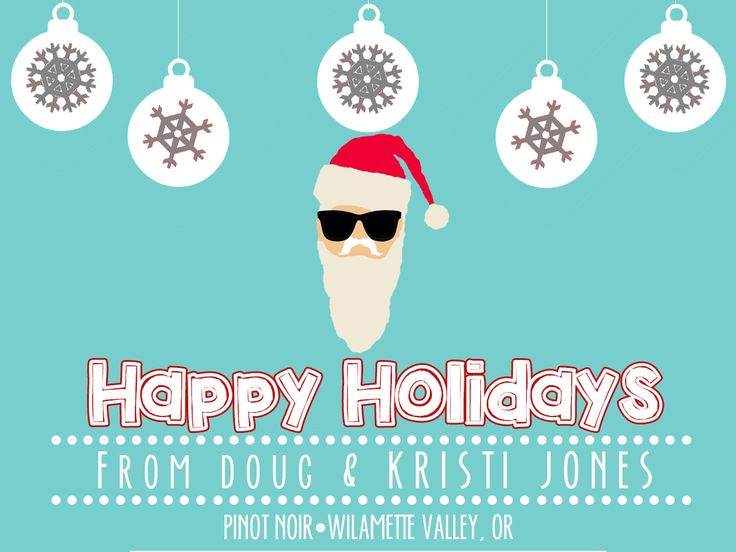 Hipster Santa Holiday Wine Label | // Custom Wine Labels \ | Pintere ...