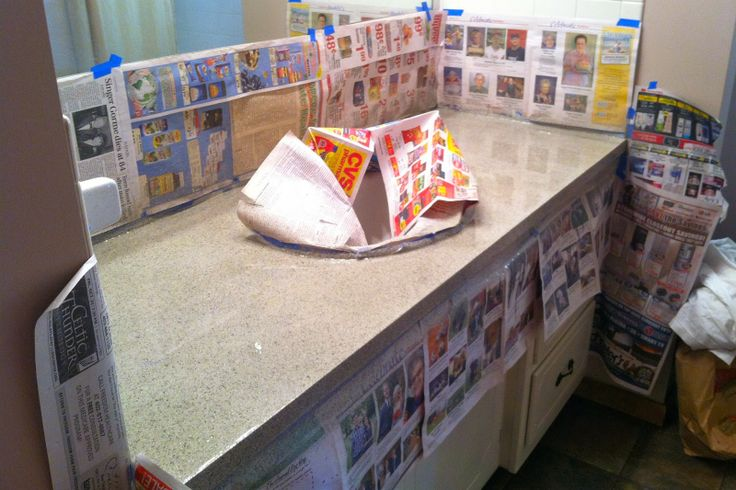 Countertop Paint Canadian Tire : ... Using Rust-Oleums Stone Effects spray paint to update countertops