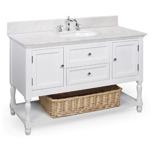 beverly 48 inch bathroom vanity white white