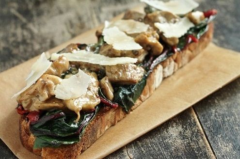 Sourdough Toasts With Mushrooms And Oysters Recipes — Dishmaps