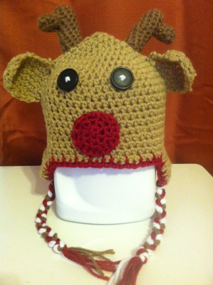 Rudolph the Red Nose Reindeer   Hats by Little Miss Jane   Pinterest