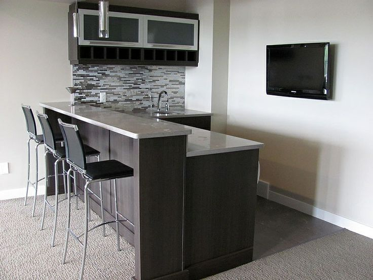 Modern Basement Bar For The Home Pinterest