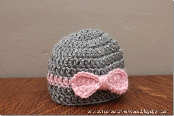 crochet baby bow hat Baby Gifts Pinterest