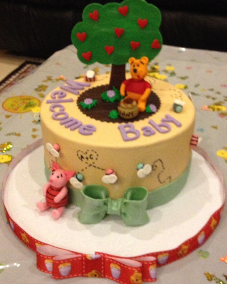 winnie the pooh baby shower cake sammicakes pinterest
