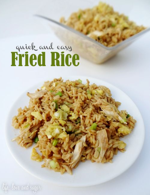 quick and easy chicken fried rice I made this tonight and was so ...
