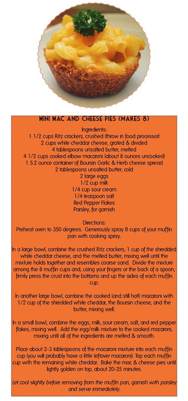 Mini Mac & Cheese Pies Recipe | Food & Drink | Pinterest