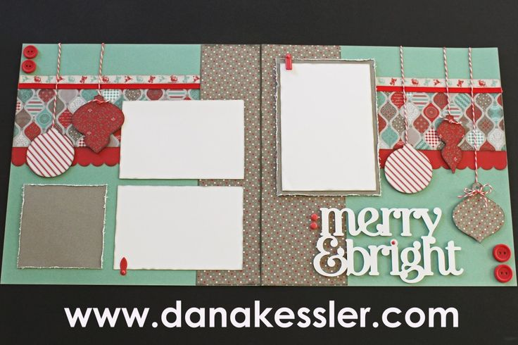 Two page scrapbook layout christmas holidays sparkle amp shine ctmh