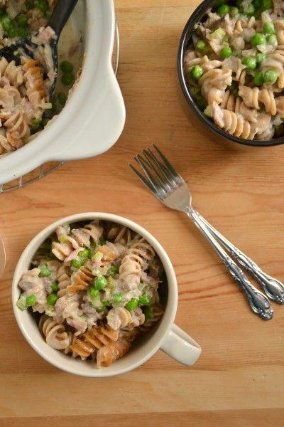 Creamy Tuna Noodle Casserole - From Scratch