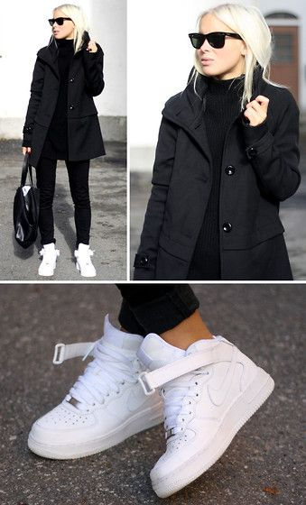 Black and White - Standard. (by Victoria Trnegren) http://lookbook.nu/look/4087468-Black-and-White-Standard http://nike-online-shop.blogspot.com/ nike shoes,nike fashion style