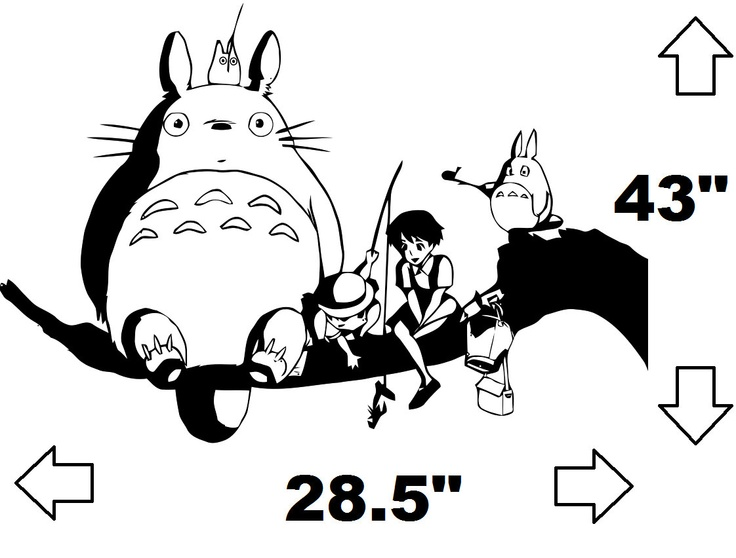 my neighbor totoro and friends wall decal via etsy this