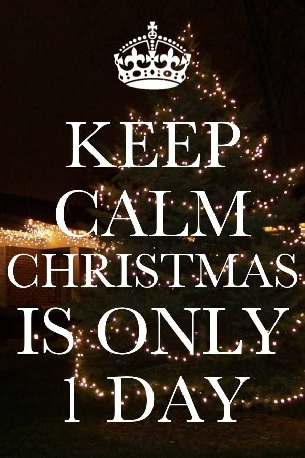 Keep Calm Christmas Is Only One Day Awesome Quotes Pinterest