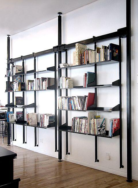Metal Book Shelves ~ Metal bookcase house ideas pinterest
