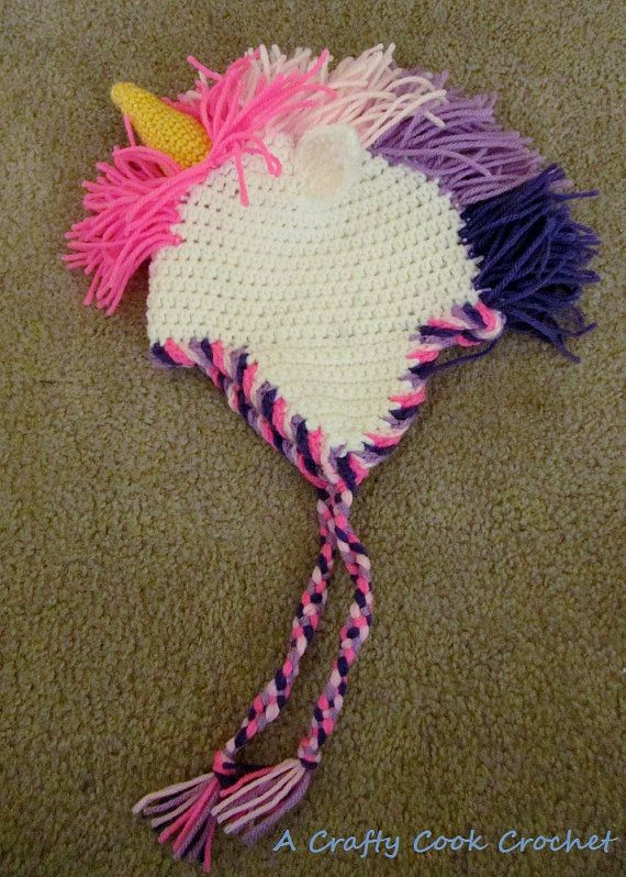 Crochet Unicorn Hat : Crochet Unicorn Hat by Erinsyarncreations on Etsy