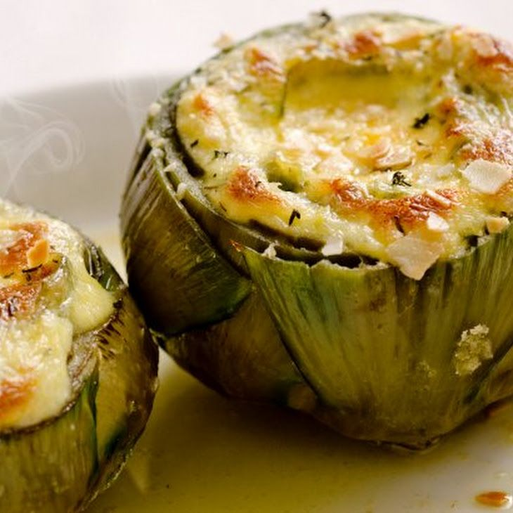 Artichoke With Baked Brie Sauce Recipe http://www.yummly.com/recipe ...