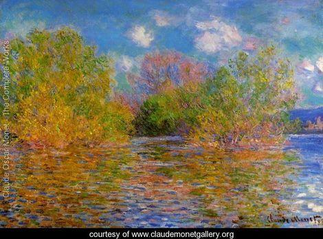 The Seine Near Giverny, Monet