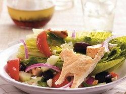 Scaredy-Cat Greek Chicken Salad | Halloween: Snacks | Pinterest