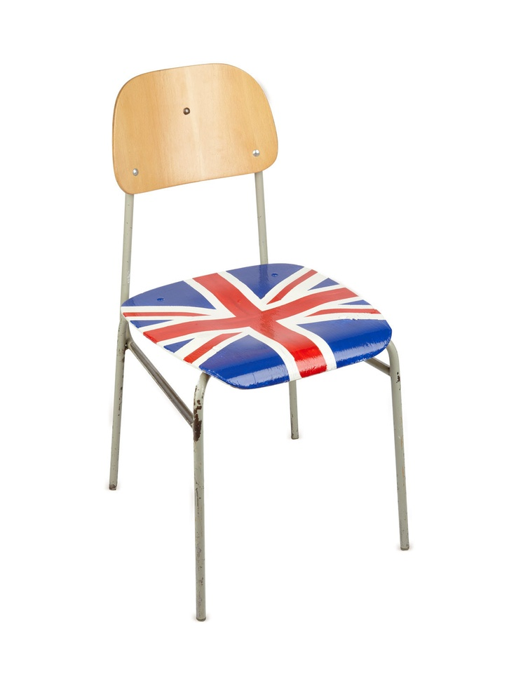 Union Jack Chair Gilt Home Painted Furniture