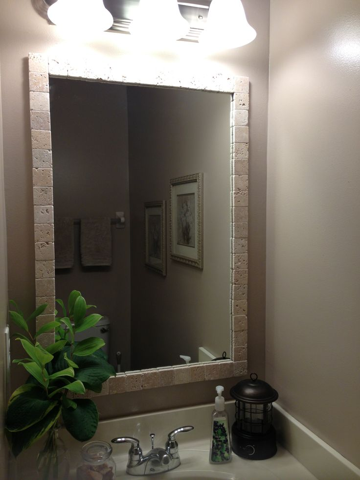 do it yourself mirror frame home repair pinterest