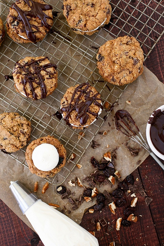 Chocolate Oatmeal Moon Pies | Cookies | Pinterest