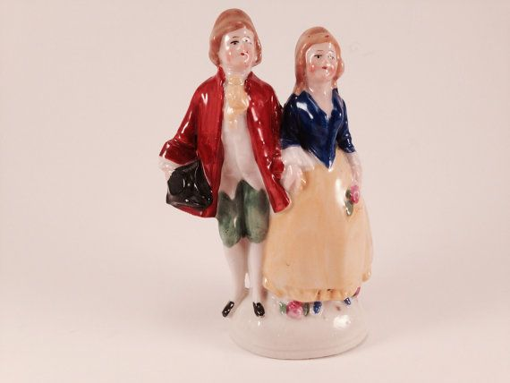 Porcelain French couple made in Germany by Bottleartstudio on Etsy, $16.00
