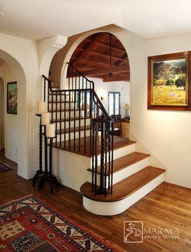 Entry foyer staircase mediterranean entry santa barbara maraya