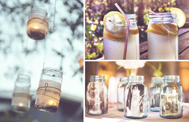 check out the old photos in the jars. you could put relatives' photos in there.