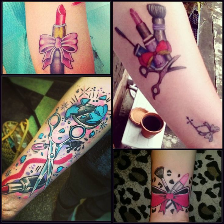 the gallery for makeup brush tattoo designs. Black Bedroom Furniture Sets. Home Design Ideas