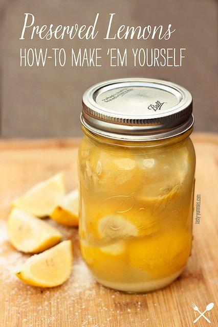 How to Make Preserved Lemons | Food | Pinterest
