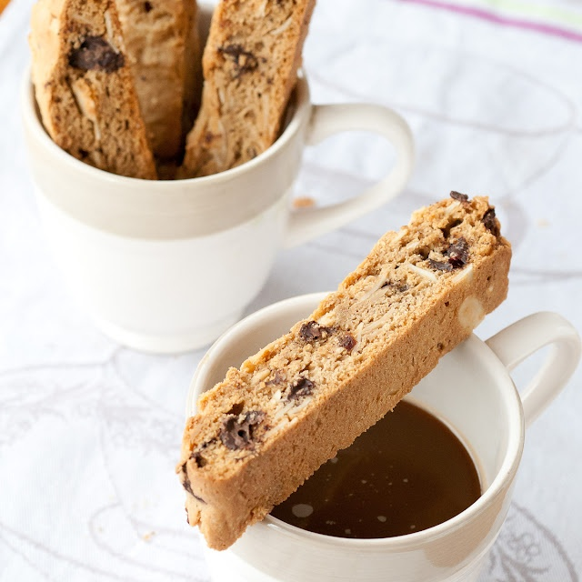 Gluten Free Dark Chocolate Cranberry Biscotti